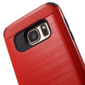 Dvoudílný odolný kryt na Samsung Galaxy S7 - červený - 4