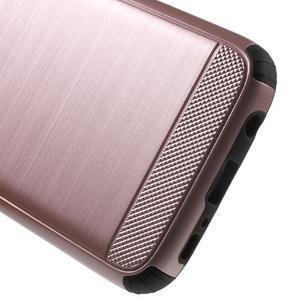 Dvoudílný odolný kryt na Samsung Galaxy S7 - zlatorůžový - 4