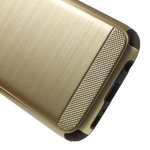Dvoudílný odolný kryt na Samsung Galaxy S7 - zlatý - 4