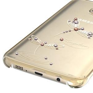 Swarovski plastový obal s kamínky na Samsung Galaxy S7 - vážky - 4