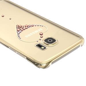Swarovski plastový obal s kamínky na Samsung Galaxy S7 - srdce - 4