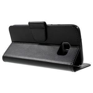 Rich PU kožené pouzdro na Samsung Galaxy S7 edge - černé - 4