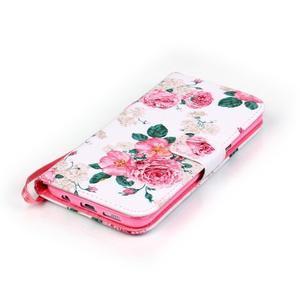 Květinové peněženkové pouzdro na Samsung Galaxy S7 Edge - 4