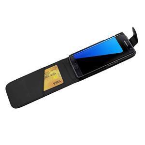 Flipové pouzdro na mobil Samsung Galaxy S7 edge - černé - 4