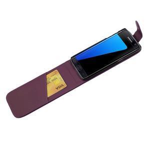 Flipové pouzdro na mobil Samsung Galaxy S7 edge - fialové - 4