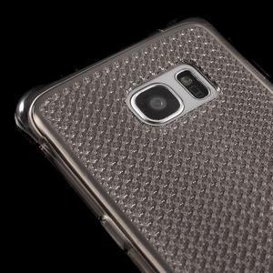 Glitter gelový obal na Samsung Galaxy S7 edge - šedý - 4
