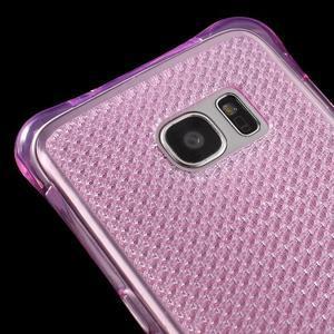 Glitter gelový obal na Samsung Galaxy S7 edge - rose - 4