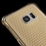 Glitter gelový obal na Samsung Galaxy S7 edge - zlatý - 4/5