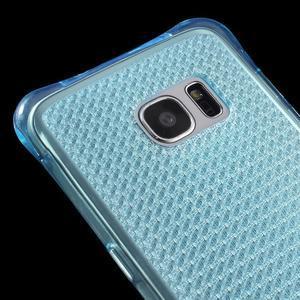 Glitter gelový obal na Samsung Galaxy S7 edge - modrý - 4