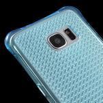 Glitter gelový obal na Samsung Galaxy S7 edge - modrý - 4/5