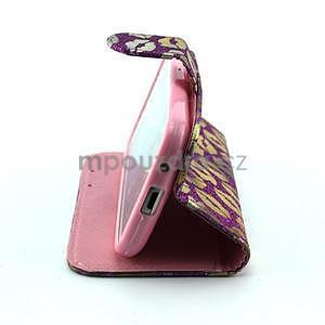 Pusinky peněženkové pouzdro na Samsung Galaxy S4 Mini - fialové - 4