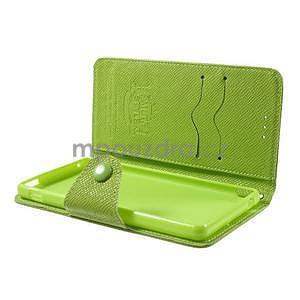 Zelené PU kožené peněženkové pouzdro na Sony Xperia M4 Aqua - 4
