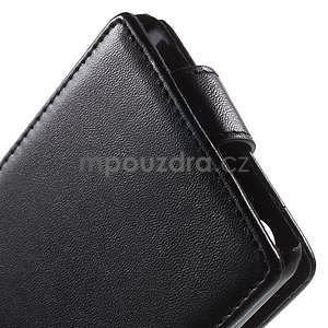 Černé flipové pouzdro na Sony Xperia M4 Aqua - 4