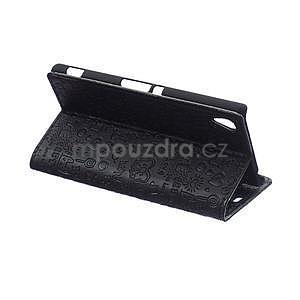 Černé texturované pouzdro na Sony Xperia M4 Aqua - 4