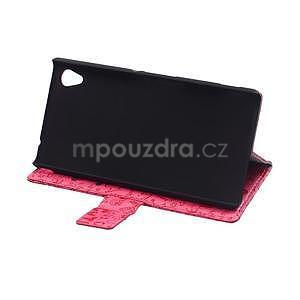 Rose texturované pouzdro na Sony Xperia M4 Aqua - 4