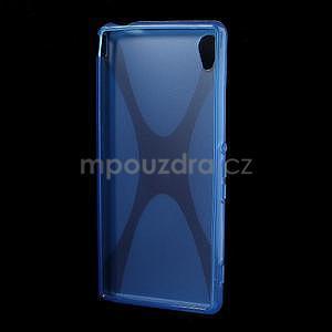 Modrý gelový obal na Sony Xperia M4 Aqua - 4
