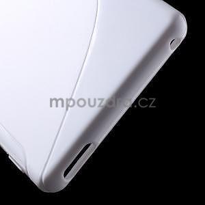 Bílý s-line pružný obal na Sony Xperia M4 Aqua - 4