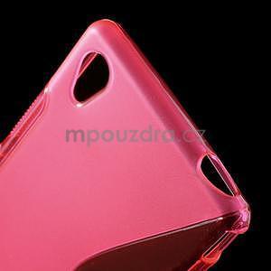 Rose s-line pružný obal na Sony Xperia M4 Aqua - 4