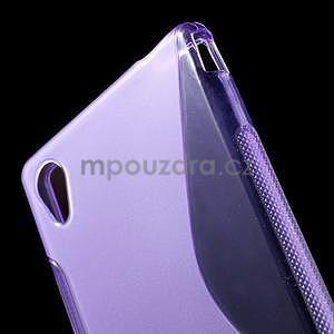 Fialový s-line pružný obal na Sony Xperia M4 Aqua - 4