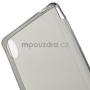 Šedý ultra tenký obal na Sony Xperia M4 Aqua - 4