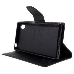 Mercur peněženkové pouzdro na Sony Xperia Z5 - černé - 4