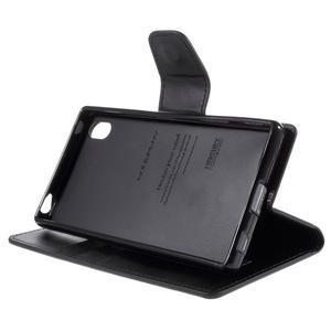 Sonata PU kožené peněženkové pouzdro na Sony Xperia Z5 - černé - 4