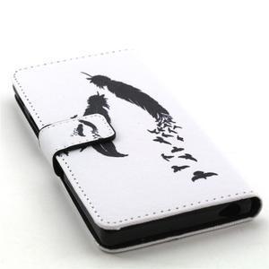Cross peněženkové pouzdro na Sony Xperia Z5 - ptačí peříčka - 4