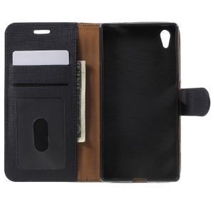 Grid PU kožené pouzdro na Sony Xperia Z5 - černé - 4