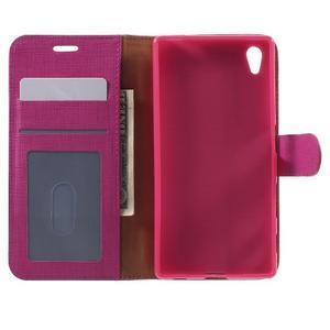 Grid PU kožené pouzdro na Sony Xperia Z5 - rose - 4