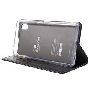 Moon PU kožené pouzdro na Sony Xperia Z5 - černé - 4