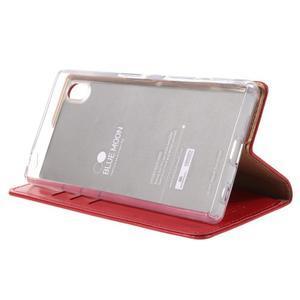 Moon PU kožené pouzdro na Sony Xperia Z5 - červené - 4