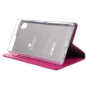 Moon PU kožené pouzdro na Sony Xperia Z5 - rose - 4