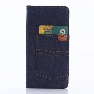 Stylové jeans pouzdro na mobil Sony Xperia Z5 - tmavěmodré - 4