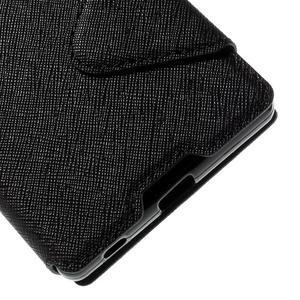 Diary pouzdro s okýnkem na Sony Xperia Z5 - černé - 4