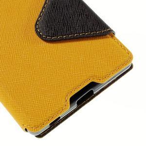 Diary pouzdro s okýnkem na Sony Xperia Z5 - žluté - 4