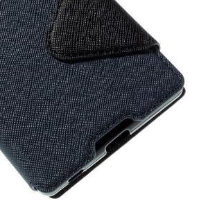 Diary pouzdro s okýnkem na Sony Xperia Z5 - tmavěmodré - 4