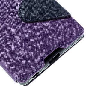 Diary pouzdro s okýnkem na Sony Xperia Z5 - fialové - 4