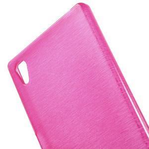 Brush lesklý gelový obal na Sony Xperia Z5 - rose - 4