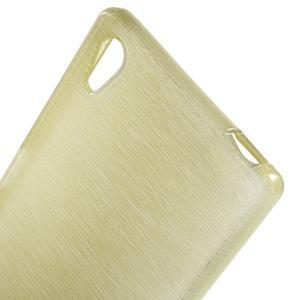 Brush lesklý gelový obal na Sony Xperia Z5 - champagne - 4