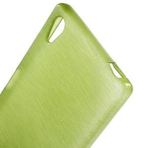 Brush lesklý gelový obal na Sony Xperia Z5 - zelený - 4