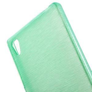 Brush lesklý gelový obal na Sony Xperia Z5 - cyan - 4