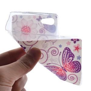 Gelový obal na mobil Sony Xperia Z5 Compact - květiny a motýl - 4