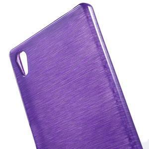 Brush lesklý gelový obal na Sony Xperia Z5 - fialový - 4