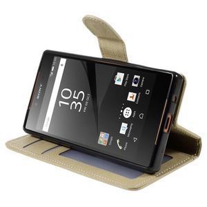 Grid peněženkové pouzdro na mobil Sony Xperia Z5 Compact - champagne - 4