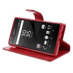 Bluemoon PU kožené pouzdro na Sony Xperia Z5 Compact - červené - 4