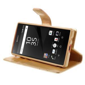 Bluemoon PU kožené pouzdro na Sony Xperia Z5 Compact - zlaté - 4