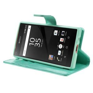 Bluemoon PU kožené pouzdro na Sony Xperia Z5 Compact - cyan - 4