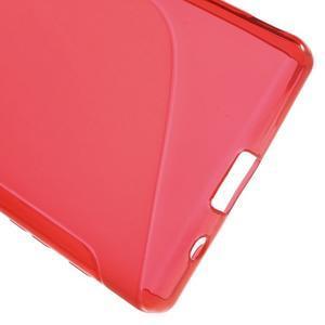 S-line gelový obal na Sony Xperia Z5 Compact - červený - 4