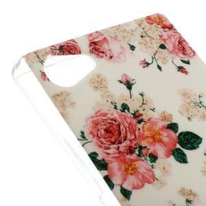 Gelový obal na mobil Sony Xperia Z5 Compact - květiny - 4