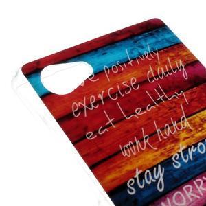 Gelový obal na mobil Sony Xperia Z5 Compact - barvy dřeva - 4